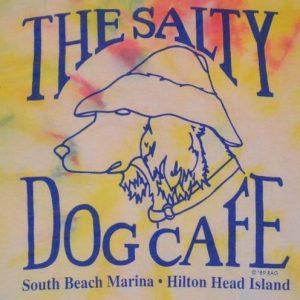 "Vintage 80s ""Salty Dog Cafe"" Tie-Dye T-Shirt"