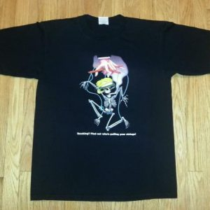VTG 90s SMOKE ALARM T-Shirt HBO Special Anti Smoking Cigs L