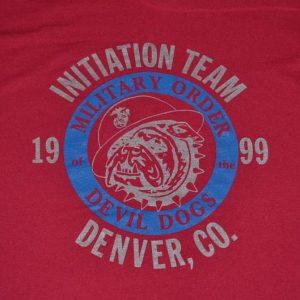 Vintage 90s Devil Dogs Marines USMC T-Shirt - L