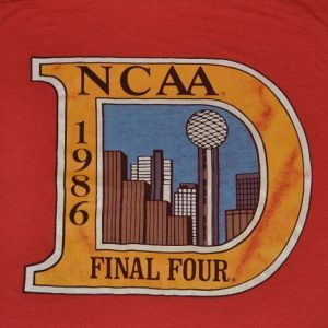 Vintage 80s NCAA Final Four Basketball T-Shirt - S