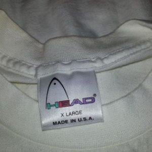 80s 90s Head T-Shirt Neon Tennis Balls Sports Logo Sz XL