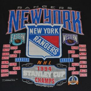 Vintage 90s NHL NY Rangers Stanley Cup T-Shirt