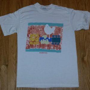 80s Woodstock Festival T-Shirt 1969 3 Days of Peace Sz L