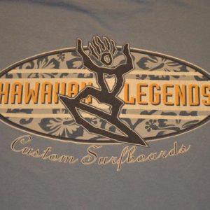 VTG90s T-Shirt Hawaiian Legends Custom Surfboards XL
