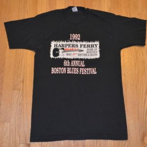 VTG 90s T-Shirt HARPER'S FERRY Boston Blues Festival Sz L