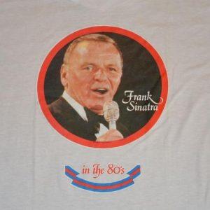 Vintage 80s Frank Sinatra Iron-On T-Shirt - Sz S-M