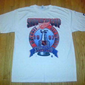 VTG 90s 1997 STANLEY CUP CHAMPIONS T-Shirt Detroit XXL