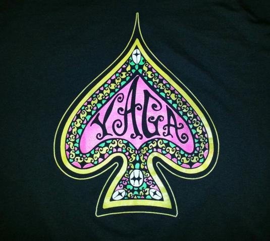 Vintage 90s YAGA T-Shirt Reggae Hippie Spade No Worries Sz L