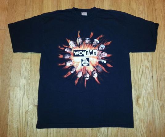 90s WCW NWO T-Shirt Illinois Lottery Hulk Hogan Goldberg XL