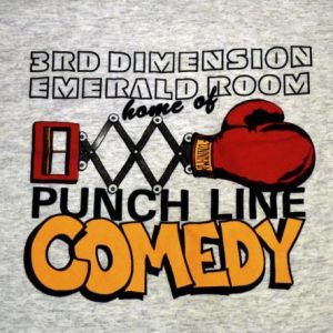 Vintage 90s 3rd Dimension Emerald Room Punchlin Comedy Tee L