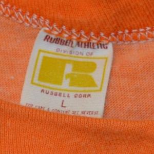 Vintage 70s Orange Bowl Bound Rayon Tri-Blend T-Shirt S-M