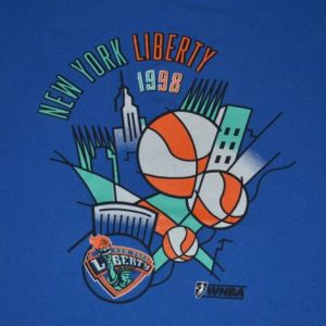 Vintage 90s WBNA NY Liberty T-Shirt - XL