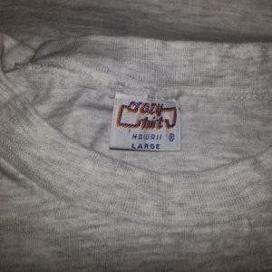 Vtg 90s HURRICANE INIKI T-Shirt Hawaii El Nino Beach Waves L
