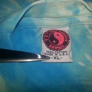 90s T&C T-Shirt Town Country Yin Yang Custom Reverse Tie-Dye