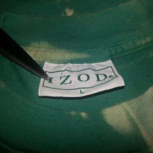 90s Izod T-Shirt Custom Reverse Tie-Dye FishSz XXL 2XL