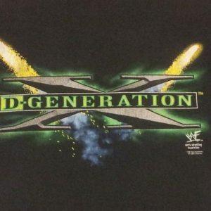 Vintage 90s Tshirt WWF D-Generation X - Sz XL