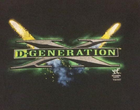 Vintage 90s Tshirt WWF D-Generation X – Sz XL