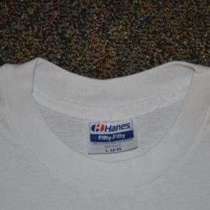 VTG 80s T-Shirt Sports Spectator Baseball Football Fans L