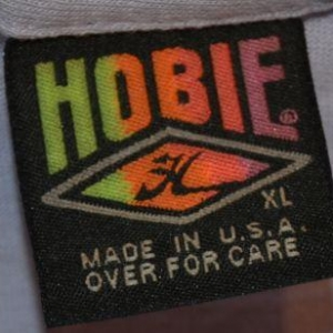 Vintage 90s HOBIE Wrap-Around Print T-Shirt Neon - XL