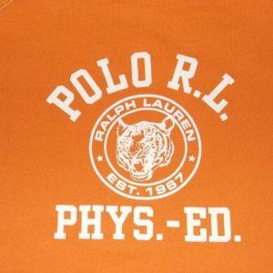 VTG 90s POLO RALPH LAUREN S/S Sweatshirt Phys Ed Tiger Head
