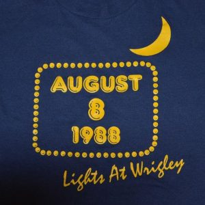 Vintage 80s Wrigley Field Lights Chicago Cubs T-Shirt - L