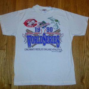 90s World Series T-Shirt 1990 Cincinnati Reds Oakland A's