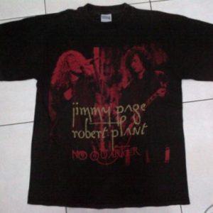 Plant & Page NO QUARTER concert 1995 t-shirt