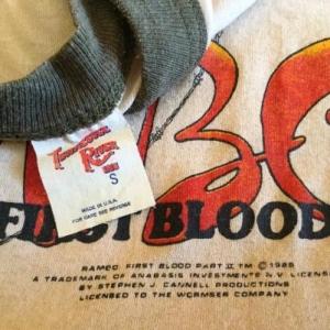 Rare vintage rambo first blood part II camo tshirt