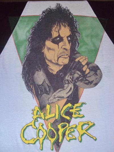 VINTAGE 1986 ALICE COOPER JERSEY T-SHIRT