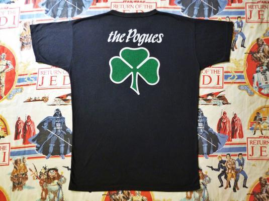 VINTAGE 1986 THE POGUES T-SHIRT