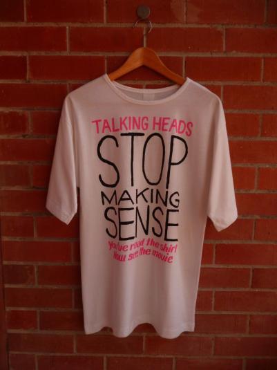 VINTAGE 1984 TALKING HEADS STOP MAKING SENSE MOVIE T SHIRT