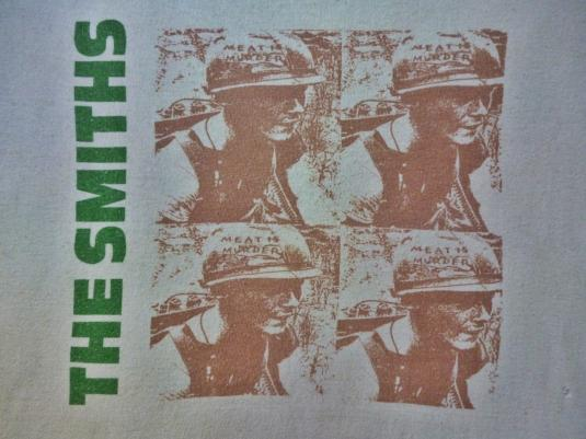 VINTAGE 1985 THE SMITHS MEAT IS MURDER T-SHIRT