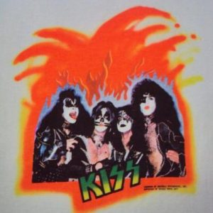 VINTAGE 1977 KISS JAPAN PROMO TOUR T SHIRT