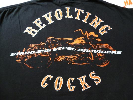 VINTAGE 1991 REVOLTING COCKS STAINLESS STEEL T-SHIRT