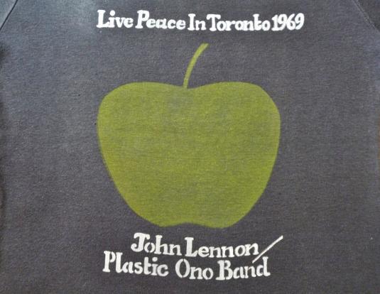 1969 70'S JOHN LENNON/PLASTIC ONO BAND CONCERT T-SHIRT