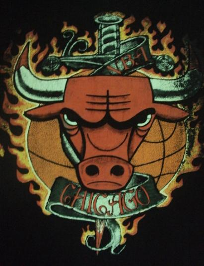 VINTAGE CHICAGO BULLS RAYON T-Shirt