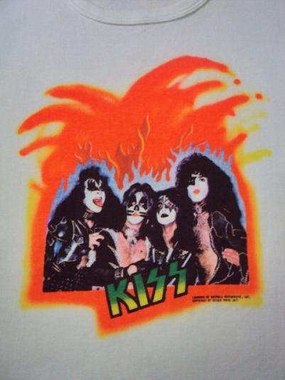 RARE VINTAGE 1977 KISS JAPAN PROMO TOUR T SHIRT