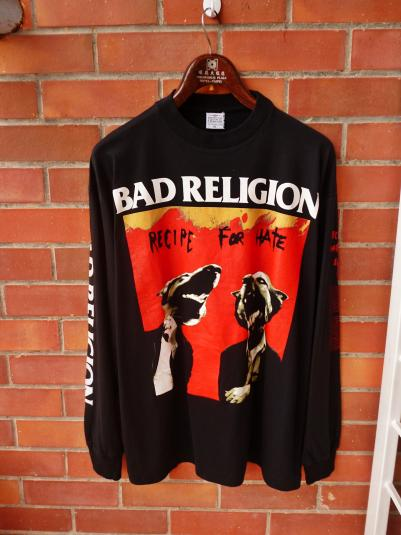 VINTAGE BAD RELIGION RECIPE FOR HATE EUROPE TOUR T-SHIRT