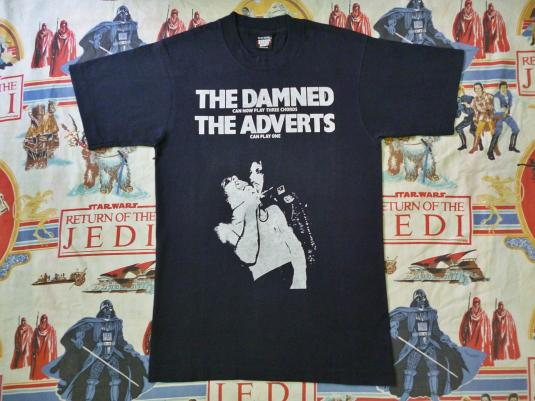 VINTAGE 80S THE DAMNED THE ADVERTS TOUR T-SHIRT