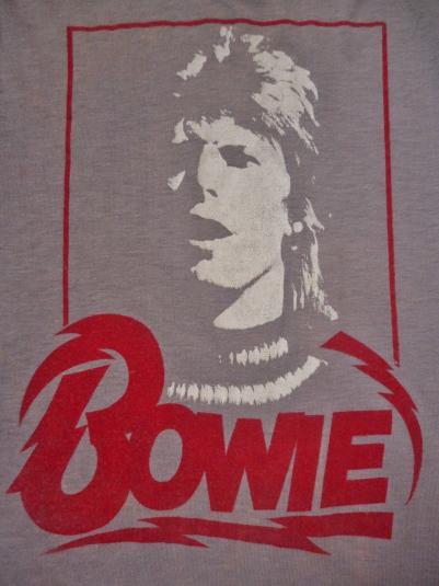 VINTAGE 1970's DAVID BOWIE T-SHIRT