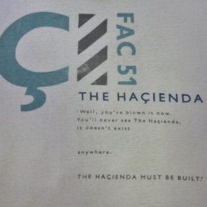 VINTAGE 80S HACIENDA FACTORY RECORDS T-SHIRT