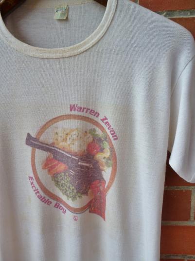 VINTAGE 1978 WARREN ZEVON EXCITABLE BOY T-SHIRT