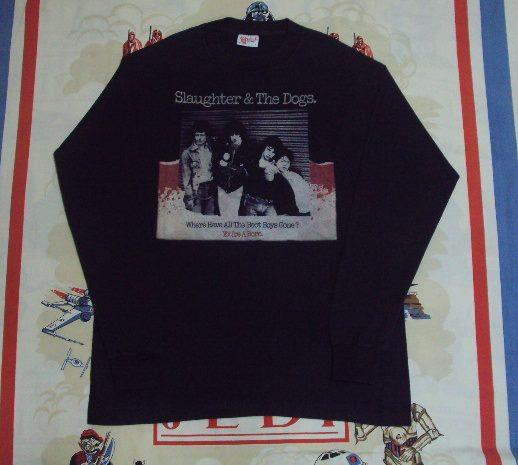 VINTAGE 1977 SLAUGHTER & THE DOGS PROMO T SHIRT
