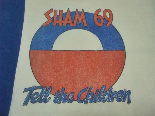 "VINTAGE 1980 SHAM 69 ""TELL THE CHILDREN"" SINGLES PROMO TEE"
