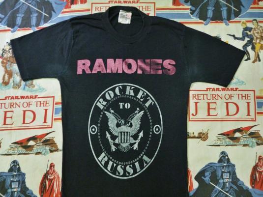 VINTAGE 1977 RAMONES ROCKET TO RUSSIA T-SHIRT