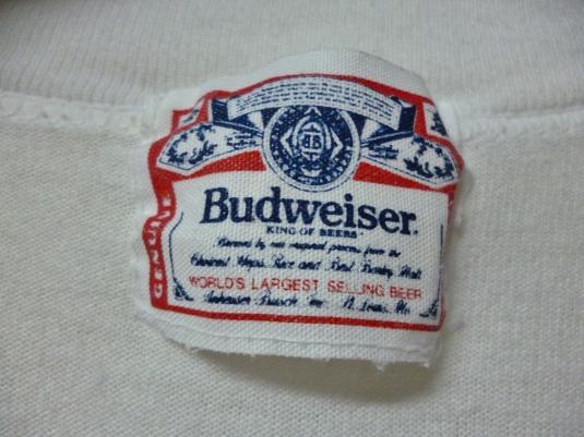 VINTAGE 80S BUDWEISER KING OF BEER T-SHIRT