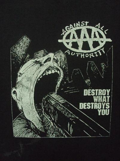 VINTAGE AGAINST ALL AUTHORITY 1990'S