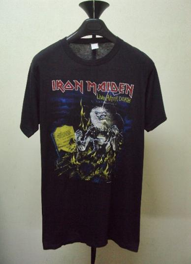 VINTAGE 1985 IRON MAIDEN Live After Death T-SHIRT