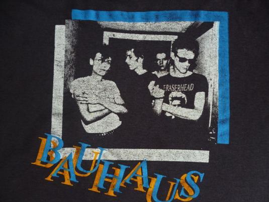 VINTAGE 80S BAUHAUS PAPERTHIN T SHIRT