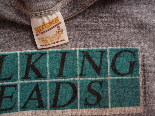 VINTAGE 1978 TALKING HEADS BUILDING AND FOOD T-SHIRT